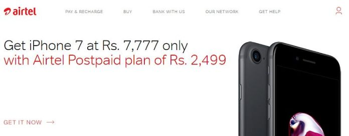 airtel iphone7 online store iphone