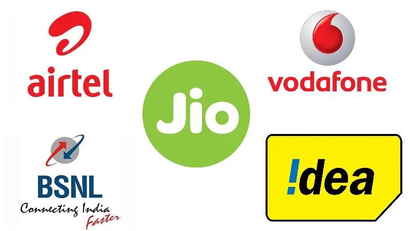 Jio vs airtel vodafone idea bsnl aircel the best data also rh gadgets ndtv