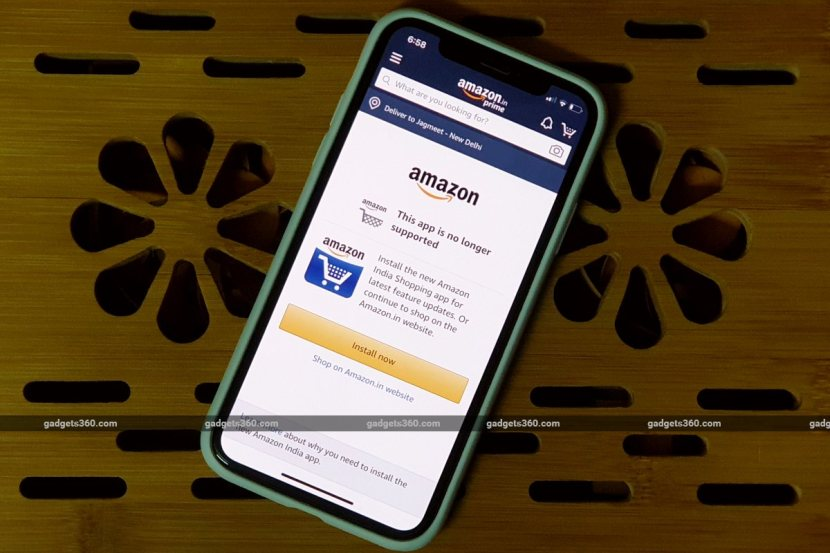Amazon Disables Its Original iOS App in India, Customers Required to Switch to New App or Use Website 1