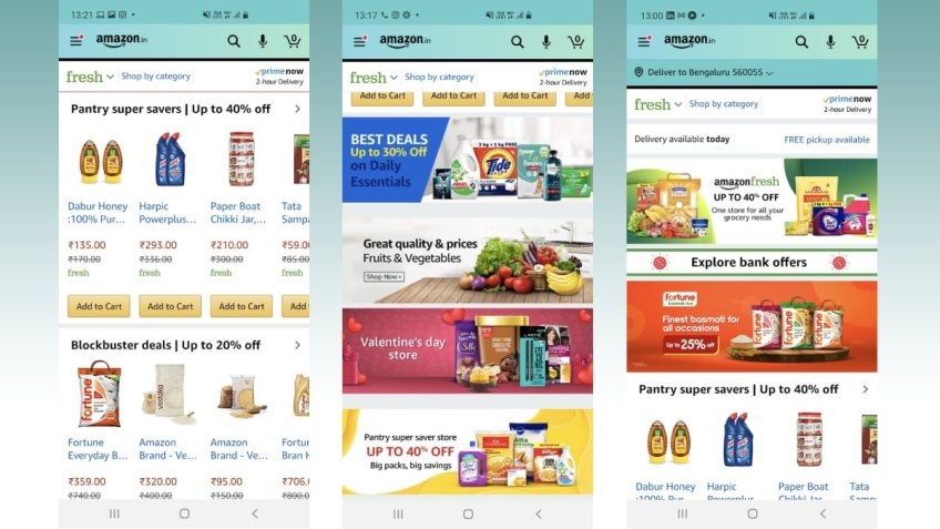 Amazon to Integrate Pantry Within Fresh Store in India, Two-Hour Delivery Offered to Customers