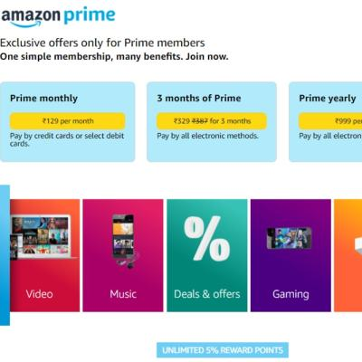 Amazon Prime Rs. 129 Monthly Subscription Makes a Comeback: All Details