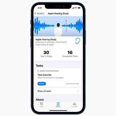 Apple's Hearing Study Warns Users of Potential Hearing Loss