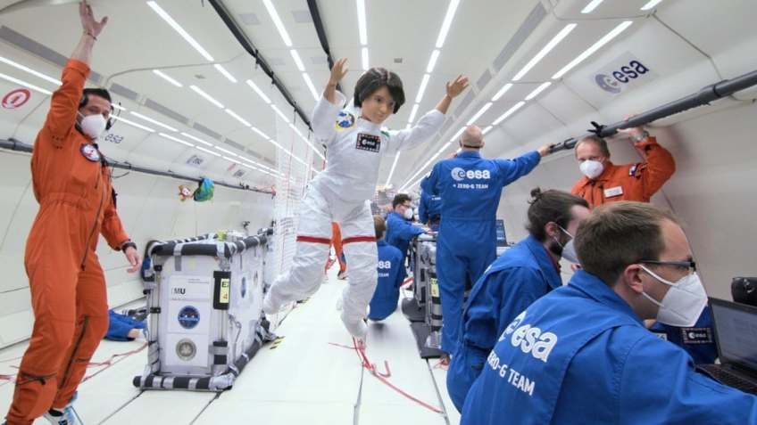 Barbie Takes Zero-Gravity Flight to Inspire Girls to Take Up Career in Space