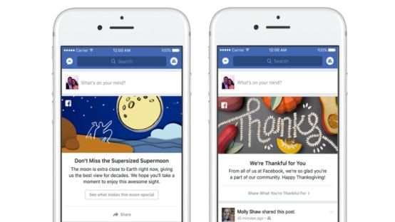 Facebook Brings Google Doodle-Like Messages to News Feed; Lets You Send Holiday Greetings