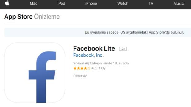 Facebook Lite App for iOS Launched, Now Available for Users in Turkey