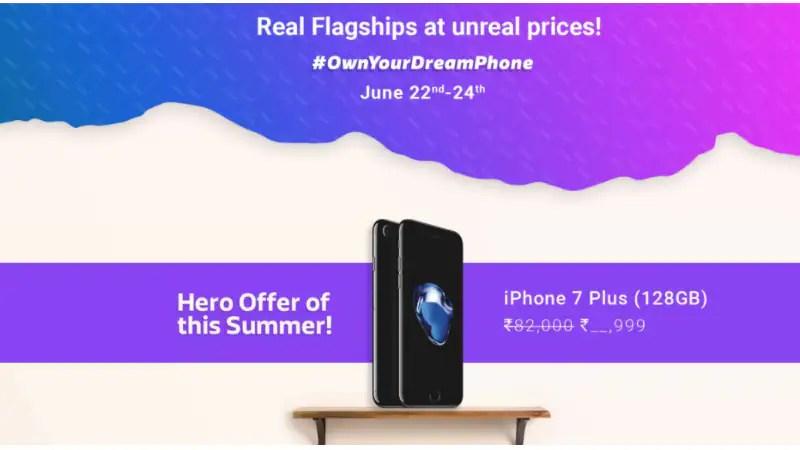 Flipkart Dream Phone Sale Offers: Discounts on iPhone 7, Moto Z, Google Pixel, and Other Deals