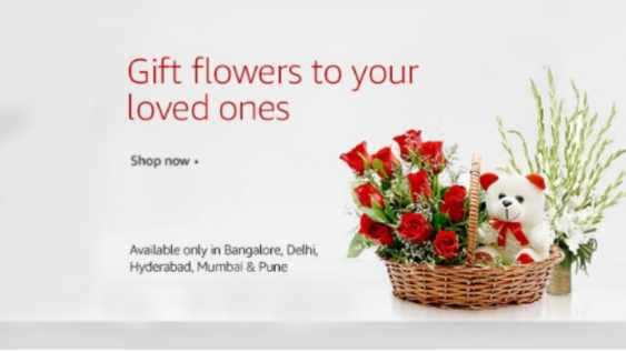 Amazon India Launches Fresh Flowers Store in 5 Cities