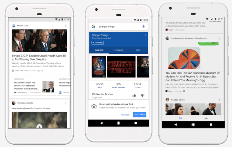 Google App on Android and iOS to Add 'Google Feed', a Stream of Personalised Links