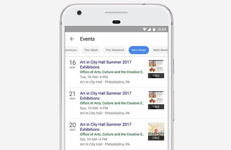 Google Launches Local Event Search on Its App and Mobile