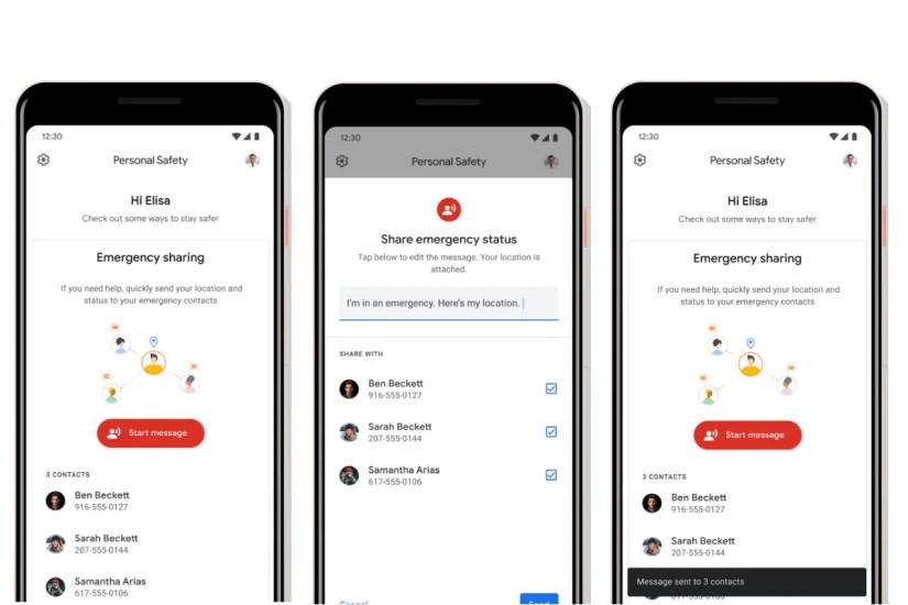 uso compartido de emergencia de la aplicación de seguridad personal de google uso compartido de emergencia de la seguridad personal de google