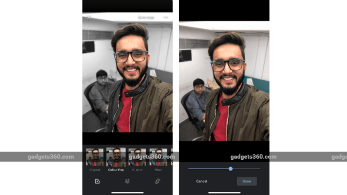 google photos colour pop ios update gadgets 360 Google Photos