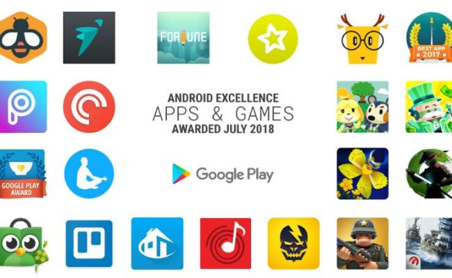 Google Names The Apps Games It Has Awarded Android