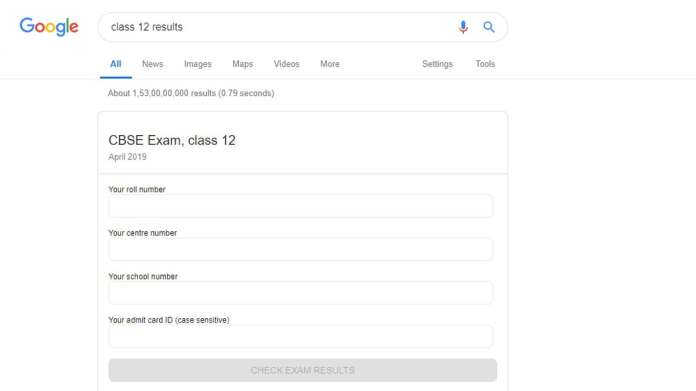 google search cbse 12 results Google CBSE Class XII results
