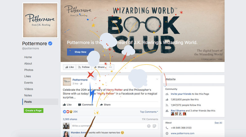 Facebook Celebrates 20 Years of Harry Potter by Letting You Cast Spells