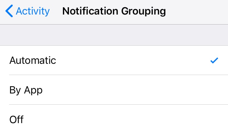 iOS 12 apple notification grouping settings iOS 12