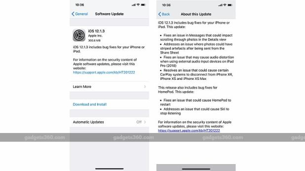ios 12 1 3 update gadgets 360 iOS 12