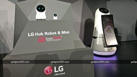 LG Hub Robot Smart Home Gateway, Other Intelligent Robots Unveiled at CES 2017