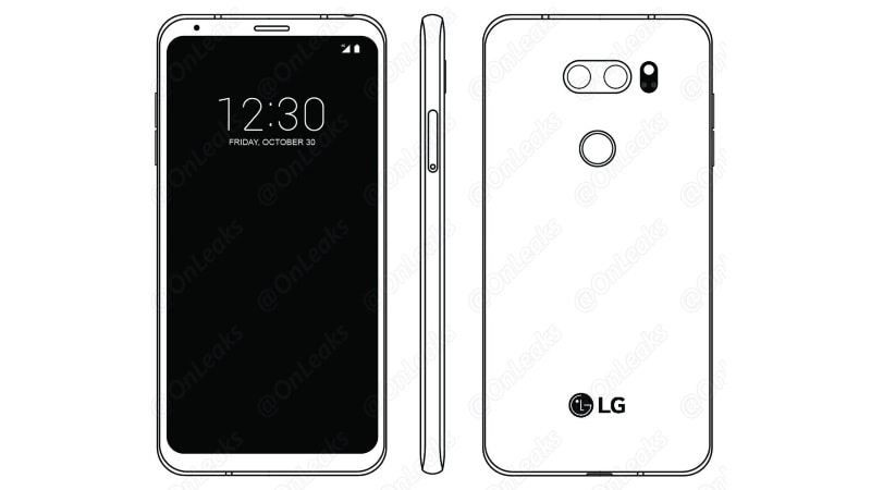 LG V30 Schematics Leak, Tip Narrow Bezel Display and Dual Camera Setup