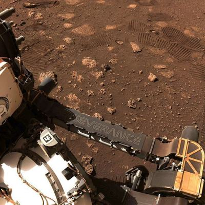 Mars Rover Perseverance Takes First Drive on Surface of Red Planet