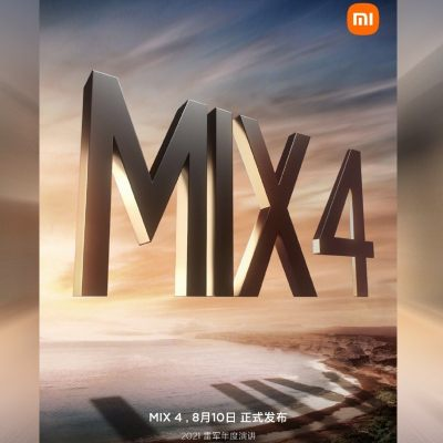 Mi Mix 4 Seen in Promotional Poster, Reportedly Gets 2,30,000 Reservations