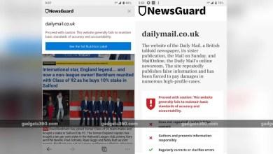 مايكروسوفت الحافة تحصل على NewsGuard تكامل على الجوال للحد من الأخبار وهمية 2