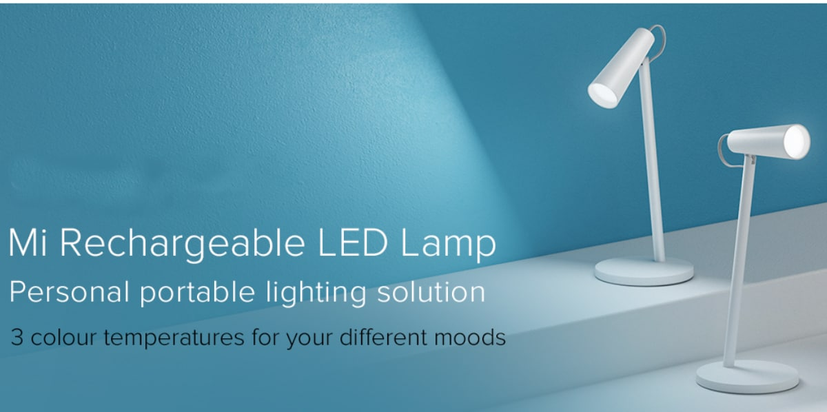 xiaomi mi rechargeable led lamp with