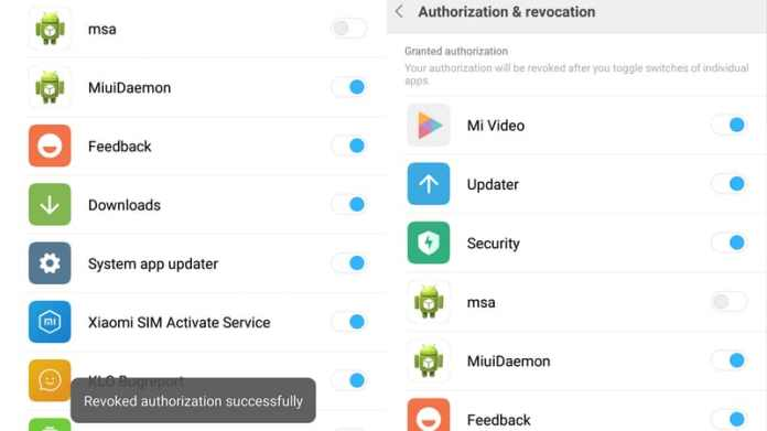 miui revoke msa authorisation MIUI