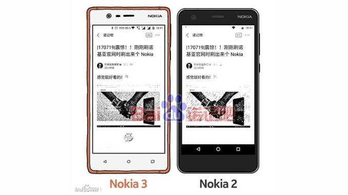 Nokia 2 Budget Android Smartphone Leaked in Image Comparing It With Nokia 3
