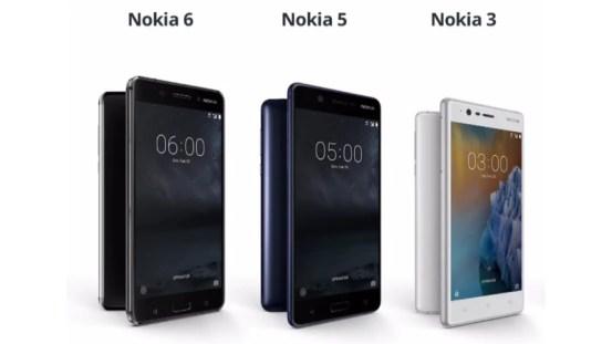 Nokia 3, Nokia 5 and Nokia 6