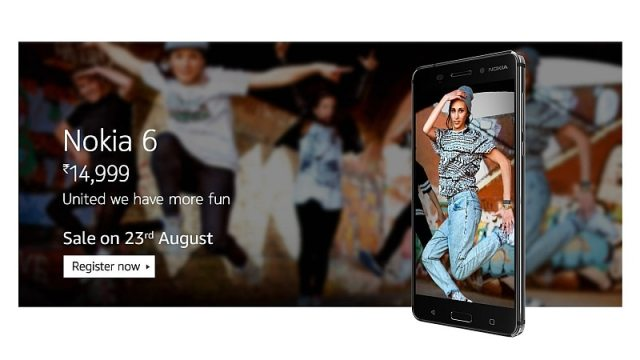 Nokia 6 India Release Date Is August 23, Registrations Now Open on Amazon India