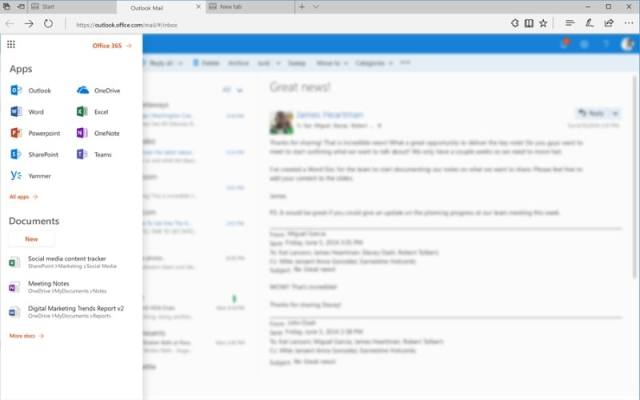 office 365 features new 1506336189747 Microsoft announces to redesign for the Office 365 App Launcher with better user interface