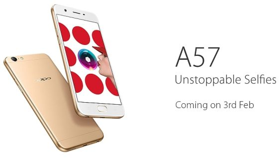 Oppo A57 India Launch Set for February 3