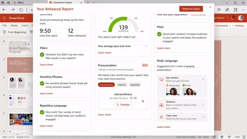 Microsoft PowerPoint Presenter Coach Comes to Desktop, Mobile Apps