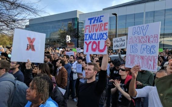 Trump Immigration Ban: Google Employees Rally in Thousands in Protests
