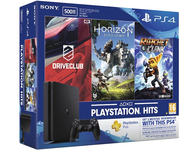 PS4 Slim with Horizon Zero Dawn, Ratchet and Clank, Driveclub, and Three Months PS Plus Membership Now Available in India