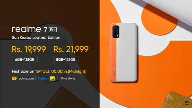 Realme 7 Pro Sun Kissed Leather Edition Launched in India.