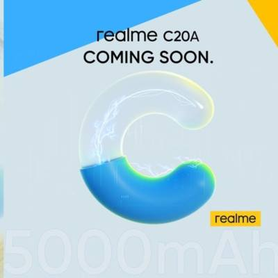 Realme C20A With 6.5-Inch Display, 5,000mAh Battery Teased to Launch Soon