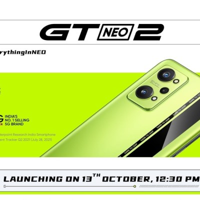 Realme GT Neo 2 Set to Launch in India on October 13: All Details