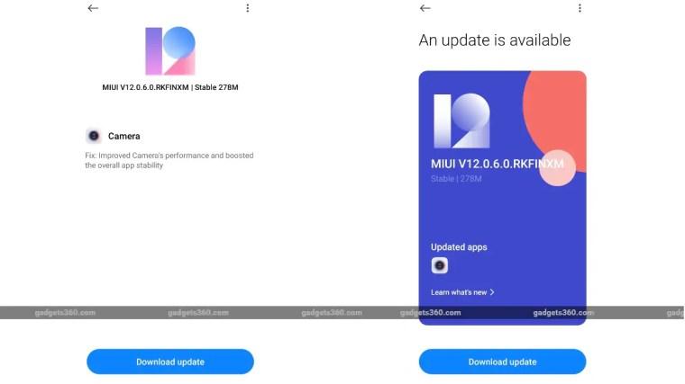 redmi note 10 pro max miui 12 0 6 0 update screenshots gadgets 360 Redmi Note 10 Pro  Redmi Note 10 Pro Max