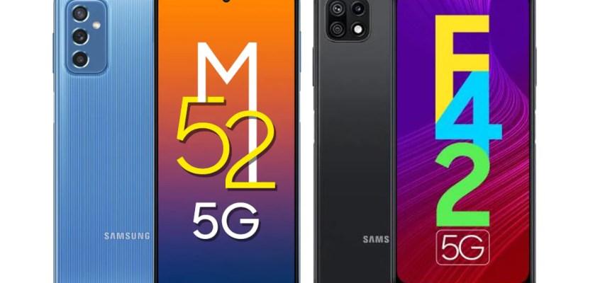 Samsung Galaxy M52 5G, Galaxy F42 5G Go on Sale With Amazon, Flipkart Discounts