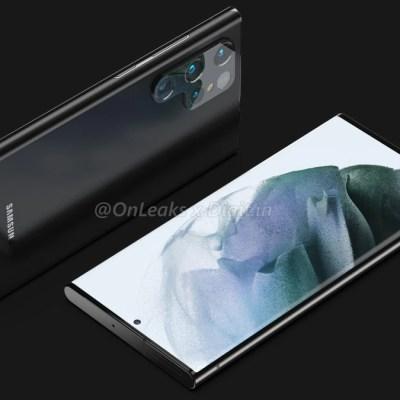Samsung Galaxy S22 Ultra Renders Suggest Dedicated S Pen Slot