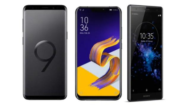 Asus zenfone 5Z vs Sony xperia XZ2 vs Samsung galaxy s9+