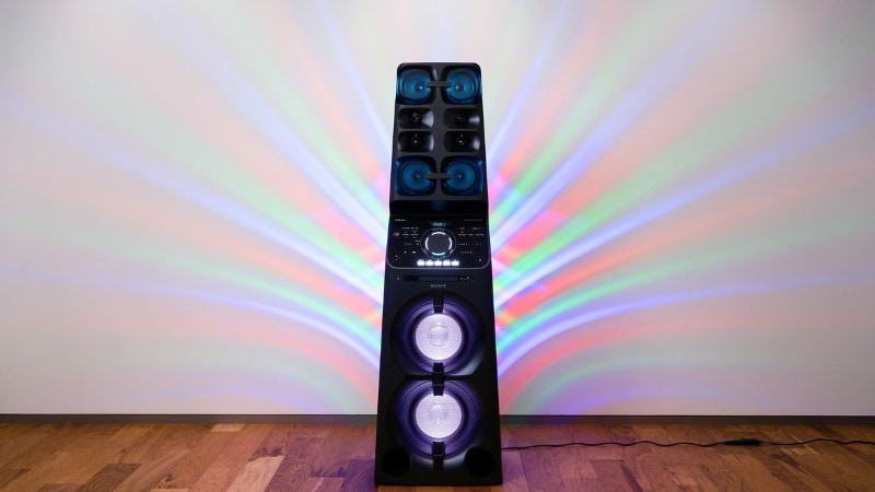 Sony MHCV90DW Home Audio System With Party Lights