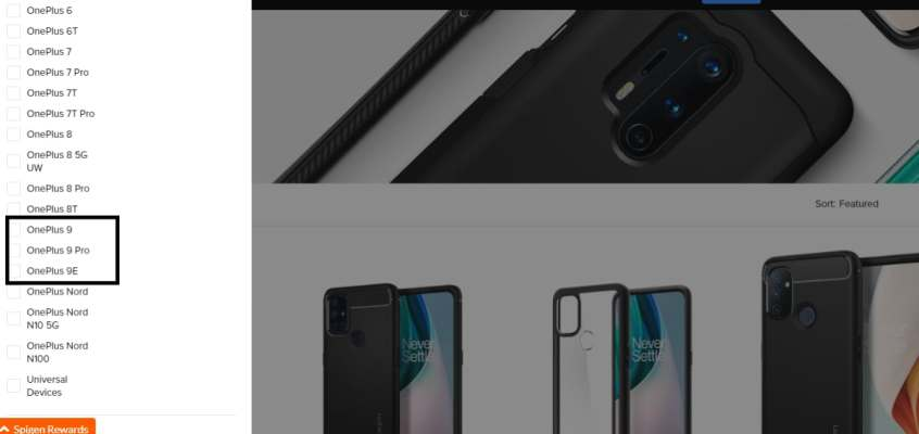OnePlus 9E Spotted on Spigen Site Ahead of Launch