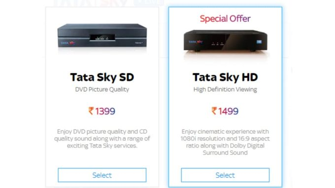 Tata Sky HD, SD Set-Top Box Price in India Cut Once Again, Now Starts at Rs. 1,399