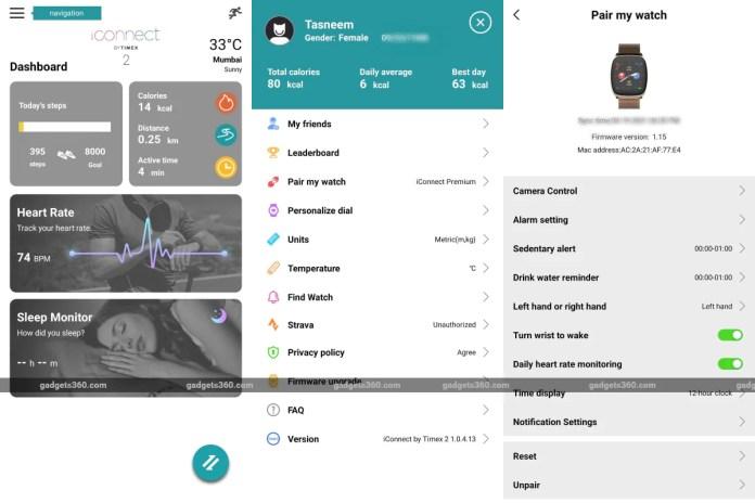 timex iconnect premium active gadgets360 app Timex iConnect Premium Active