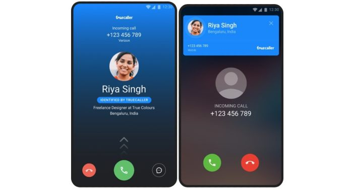 truecaller full screen caller id screenshots Truecaller