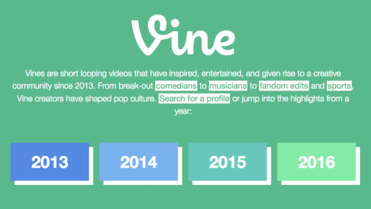 Vine Archive Is Now Live; Allows You to View All Vines Created Since 2013