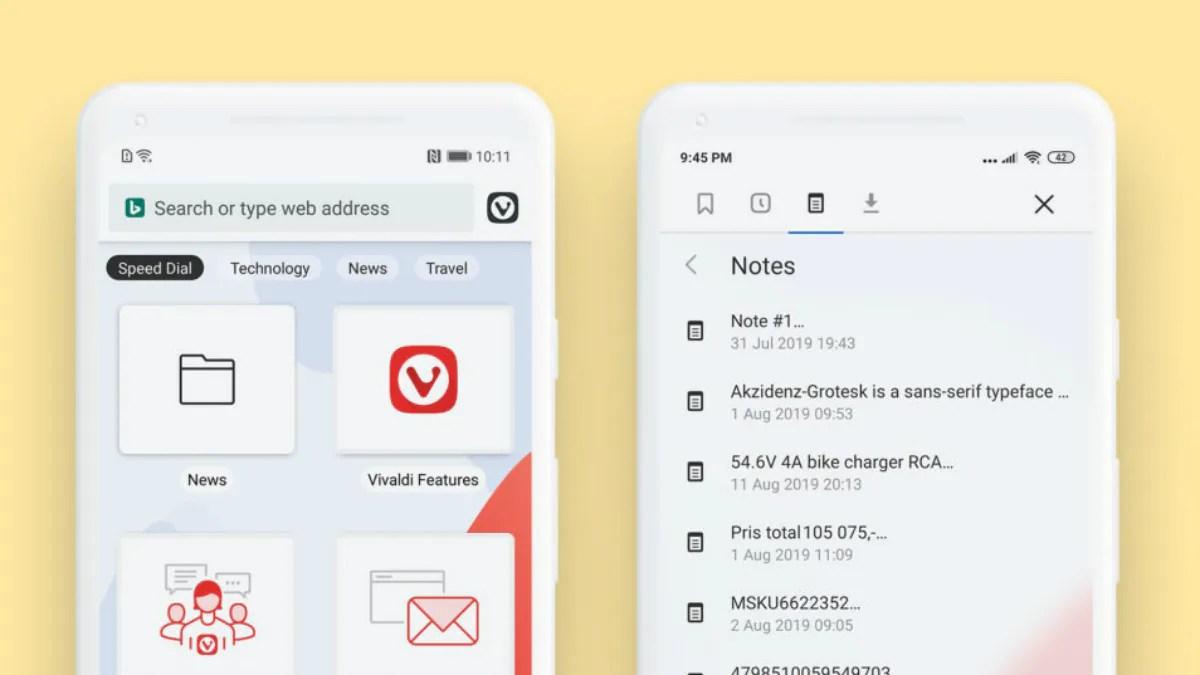 vivaldi android notes editor Vivaldi Android  Vivaldi