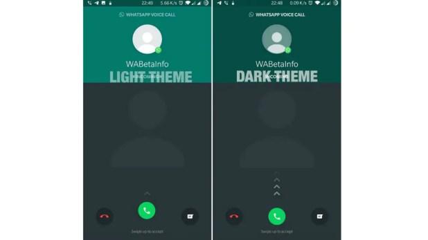 whatsapp android dark mode voip screen wabetainfo WhatsApp
